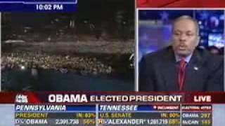 Juan Williams Tears up - Comments on Obama Victory