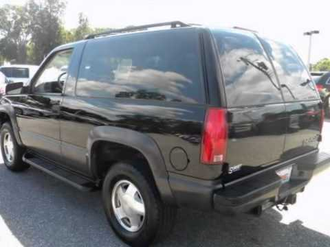 1999 CHEVROLET Tahoe 2dr 4WD  YouTube
