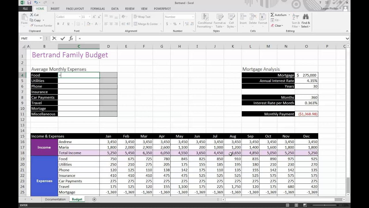 Excel Assignment 4 Case 1 how to