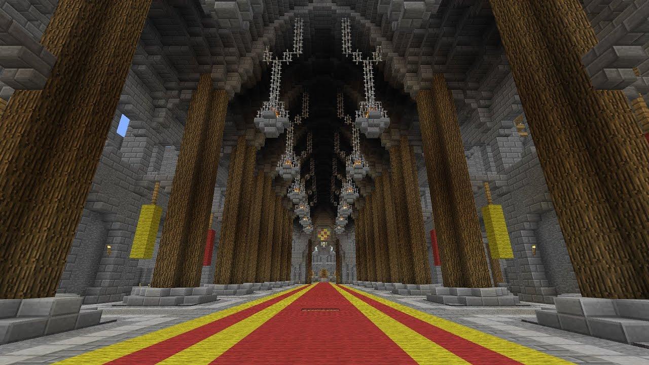 Minecraft building tutorials castle grand hall youtube for Minecraft foyer ideas