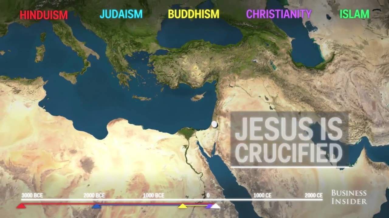 First religious in the world is Hinduism: Animated map shows how ...