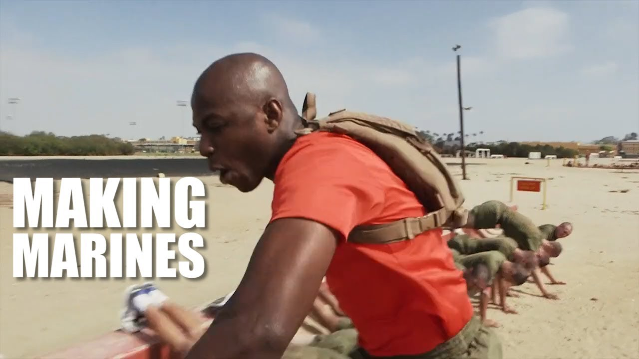 Making Marines   Drill Instructor Gives Advice to Future Marines