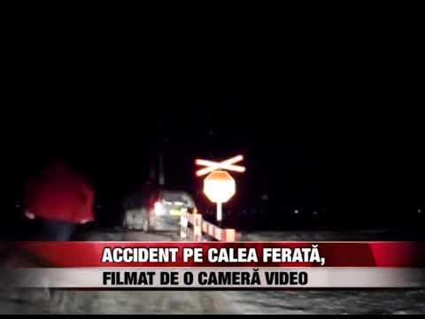 Accident pe calea ferată, filmat de o cameră video