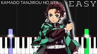 """Demon Slayer - Kimetsu no Yaiba (Ep.19 ED) - Kamado Tanjiro no Uta""""   EASY Piano Tutorial"""
