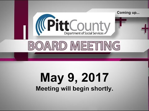 Pitt County DSS Board meeting for 5/10/2017