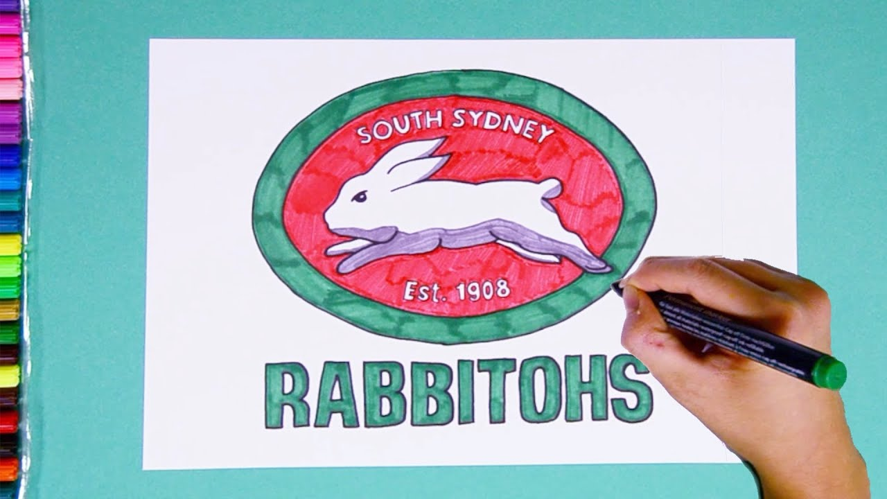 How To Draw South Sydney Rabbitohs Logo National Rugby League Youtube