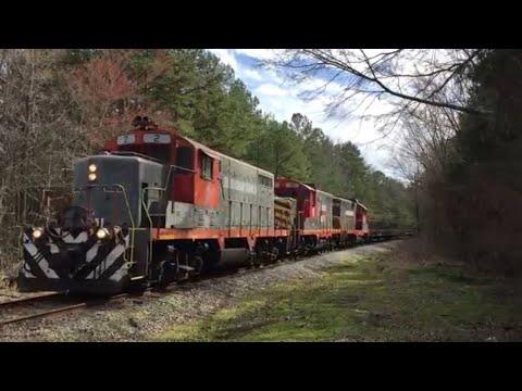 SKIPWITH, VA NB Buckingham Branch empty pipe train 2/15/2017 1:41pm