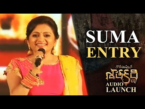 Anchor Suma Entry @ Gautamiputra Satakarni Audio Launch | Lahari Music | T-Series