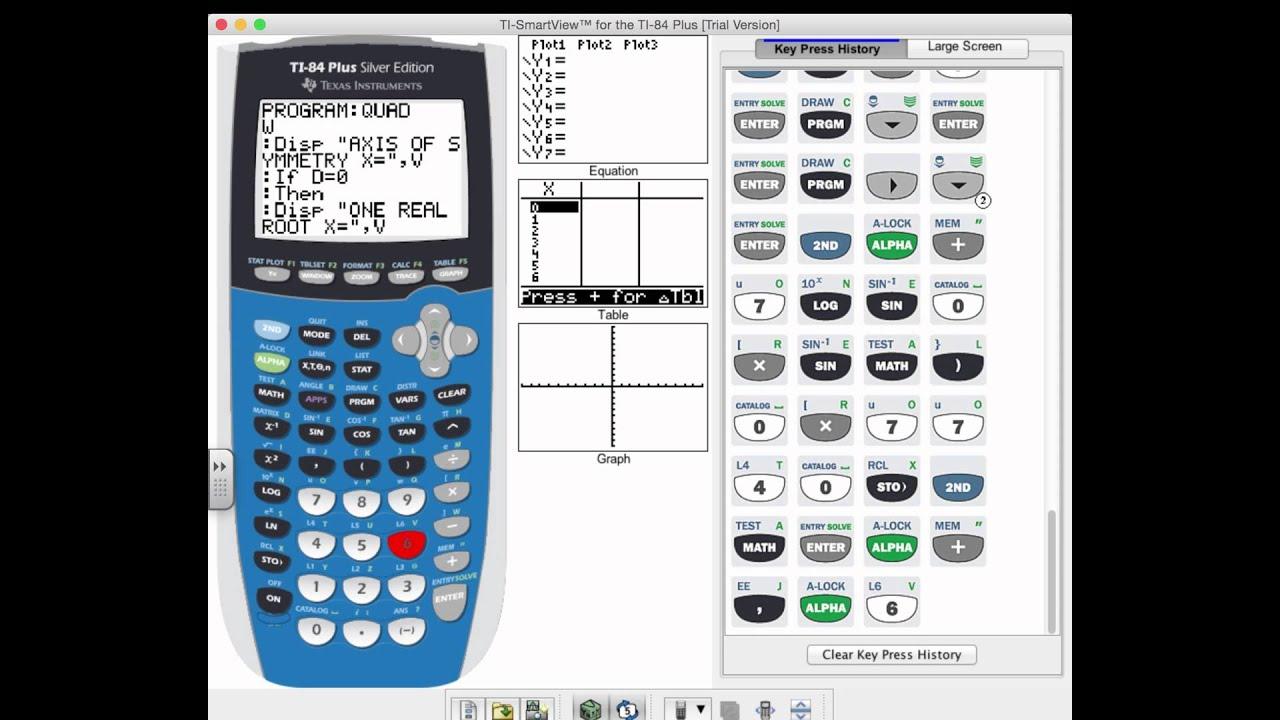Program Quadratic Equation Formula For Ti 84 Best On