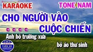 Karaoke Cho Người Vào Cuộc Chiến Tone Nam Dbm | Nhạc Sống Tuấn Cò