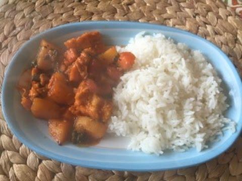 como hacer arroz cocido con pollo