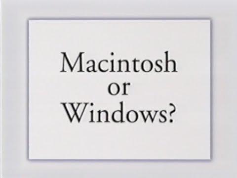 macintosh or windows