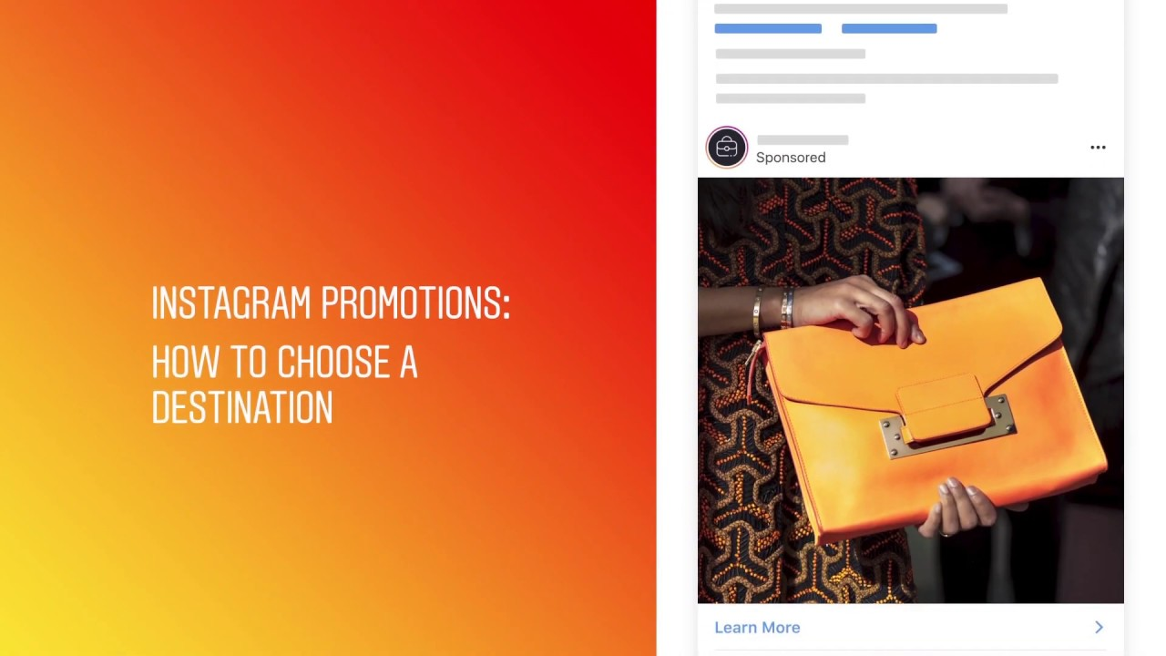 Instagram Promotions: How to choose a destination