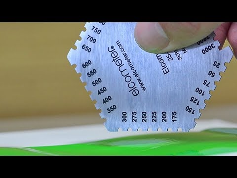 How to Measure Wet Film Thickness using Elcometer Wet Film Combs