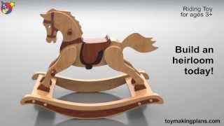 Wood Toy Plans - Antique 1890 Rocking Horse