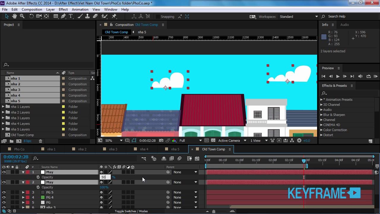 Seri bai hoc AE Motion mien phi – Video 53 -Vẽ lại đám mây trong After Effect
