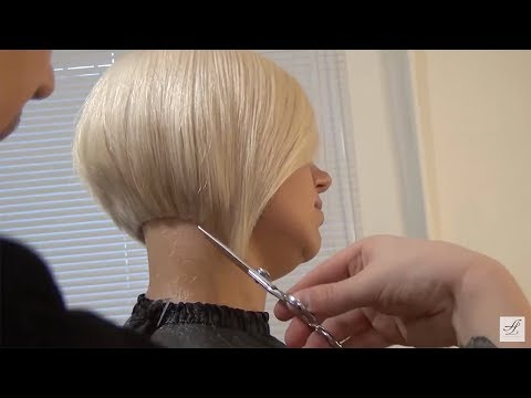 Russian hairdresser's vlog. Hairdresser education bob haircut. Hairstyle tutorial step by step