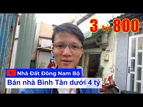 Chính chủ Bán nhà quận Bình Tân dưới 4 tỷ 2021, hẻm đường Đất Mới, gần chợ Bình Trị Đông