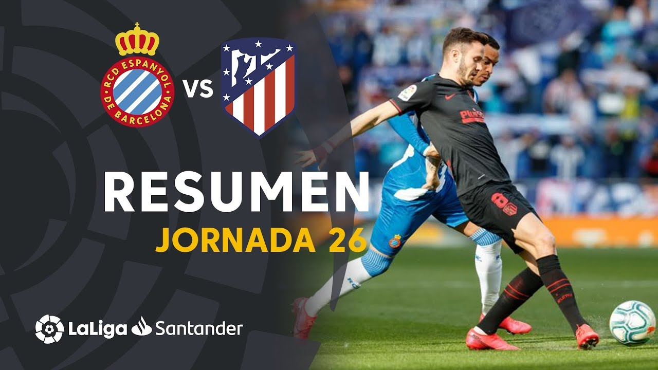 Resumen De Rcd Espanyol Vs Atlético De Madrid 1 1 Youtube