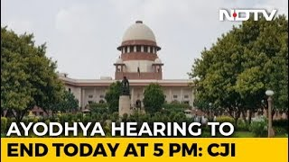 """""""Enough Is Enough"""", Ayodhya Hearing To End At 5 pm, Says Chief Justice"""