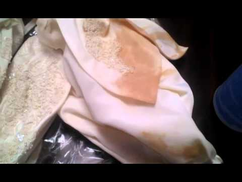 Clean a stained expensive wedding gown at home with spray for Wedding dress stain removal