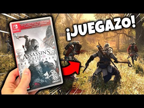 Así es ASSASSIN'S CREED 3 REMASTERED para Nintendo SWITCH 👍 GAMEPLAY y Unboxing ESPAÑOL