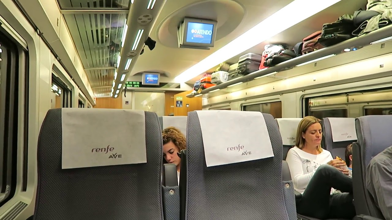 Inside a spanish renfe barcelona to madrid ave train 4 for Ave hotel barcelona madrid