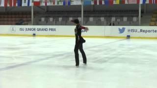 ISU 2015 Jr. Grand Prix Riga Men Short Program Armen AGAIAN GEO