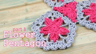 In today's crochet tutorial I show you how to crochet my Flower Pentagon, which will be part 1 of 2 videos on the whole set shown. You can use any yarn for this ...