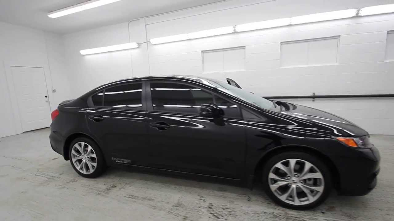 2012 honda civic si crystal black ch706702 seattle for All black honda civic