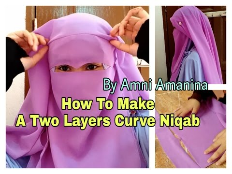 Making Two Layers Curve Niqab | Membuat Two Layers Curve Niqab