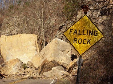 West Virginia Route 3 Rockfall