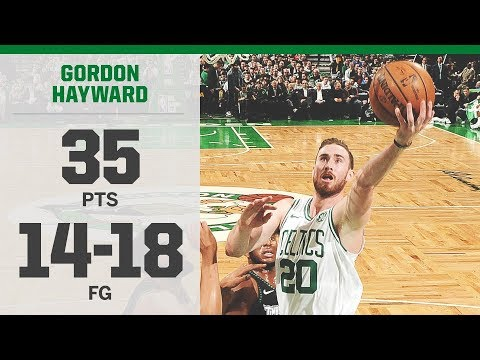 Gordon Hayward 35 Points Season High vs T-Wolves! 2018-19 NBA Season