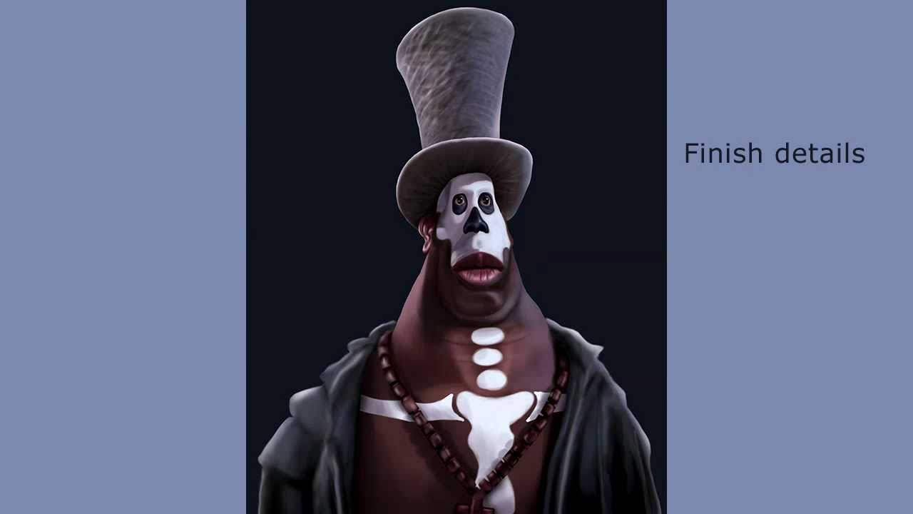 James Bond Watch >> Caricature of Baron Samedi - James Bond - YouTube