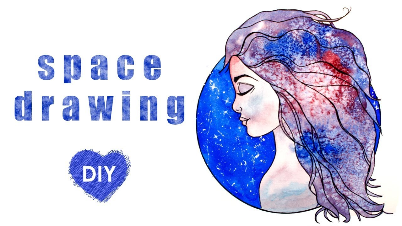 How To Draw A Space Girl Tutorial Youtube