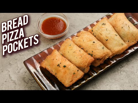 Bread Pizza Pockets - Veg Pizza Pockets Recipe - Monsoon Recipe - Kids Snack Recipe - Bhumika
