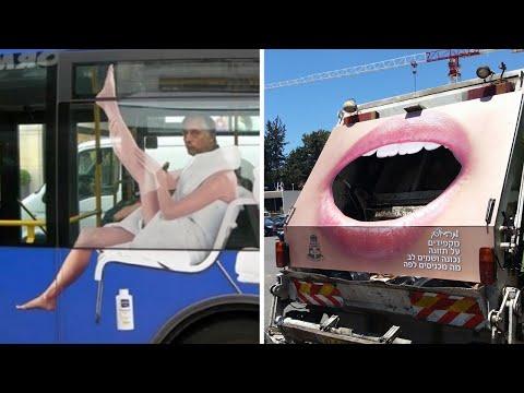 Гениальная реклама на транспорте (часть 2)