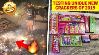 TESTING NEW UNIQUE GREEN CRACKERS 2019 - DRONE BOMB, BUTTERFLY ETC !! 🔥😍😎