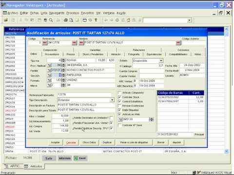 [Webinar ERP Axos Visual] Ficha de artículo o productos (Versión 6.x)
