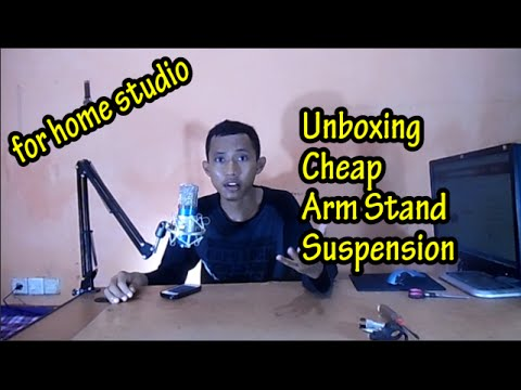Buka Paket | Broadcast Studio Microphone Suspension Arm Stand | Bahasa Indonesia