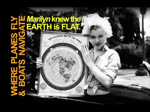 ✅ WHERE DO AIRPLANES FLY? BOATS NAVIGATE?  Look at the MAPS! ~Marilyn Monroe Knew the Earth is Flat