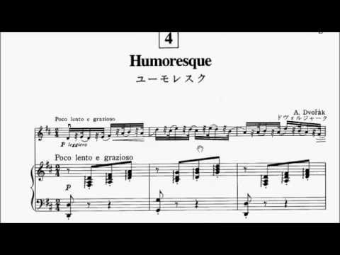 suzuki violin book 3 no.4 dvorak humoresque sheet music - youtube