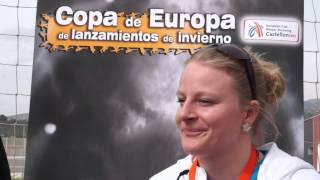 ALEXANDRA TAVERNIER (FRA) AFTER WINNING UNDER 23 HAMMER THROW