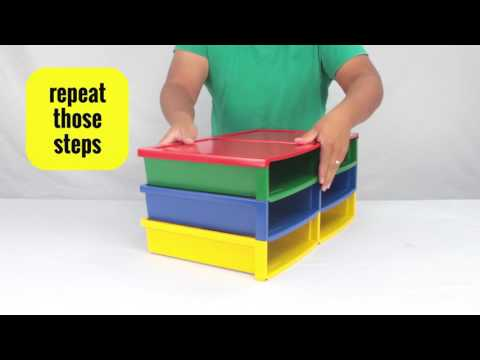 Quick Stack Large Storage And Transport Crate - Storex