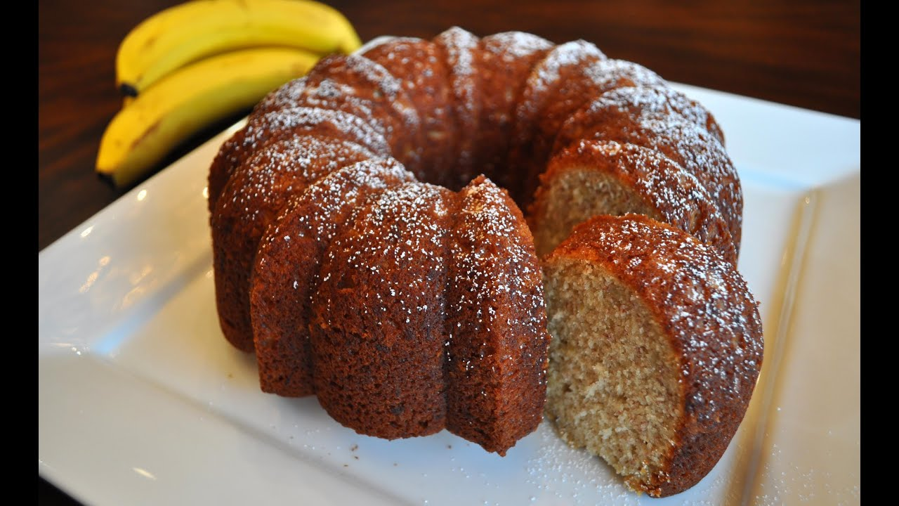 Banana Nut Pound Cake Recipe