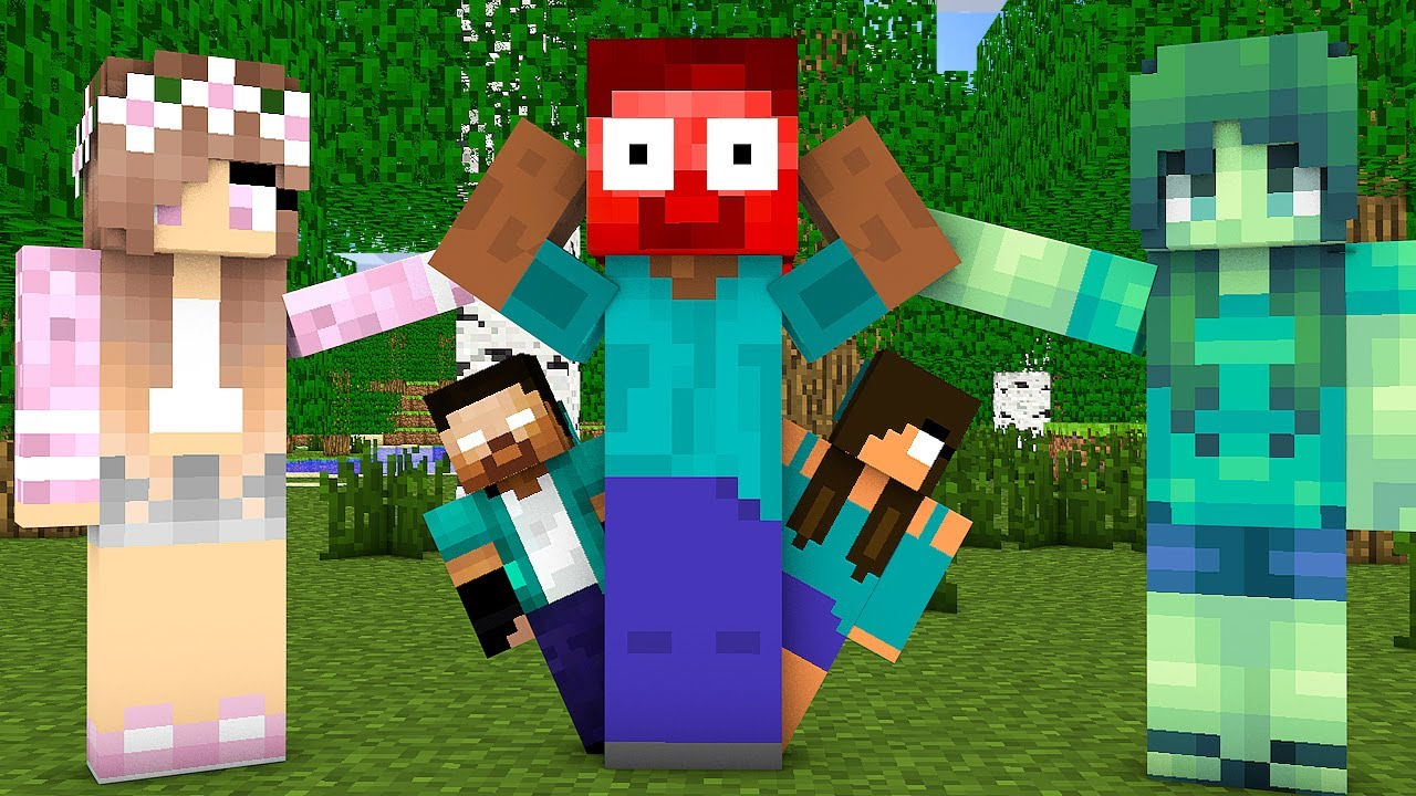 Download Monster School : EPIC HEROBRINE FAMILY CHALLENGE - Minecraft Animation