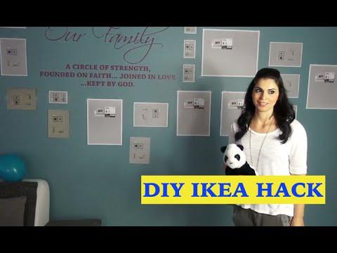 DIY Wohnzimmer Wandgestaltung IKEA Hack