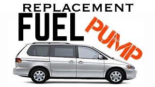 99 - 10 Honda Odyssey Fuel Pump Replacement Removal - Fuel Pump Relay - Bundys Garage