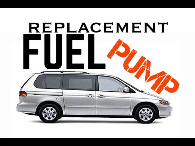 99 - 10 honda odyssey fuel pump replacement removal - fuel pump relay -  bundys garage - youtube  youtube