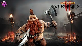 Warhammer Vermintide 2 Dwarf Slayer Gameplay - Stormfiend Boss, Nurgle, and Skaven